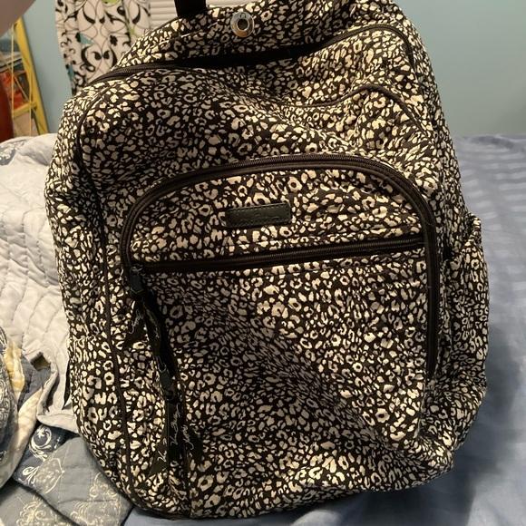 B&W Leopard Print Vera Bradley Bookbag
